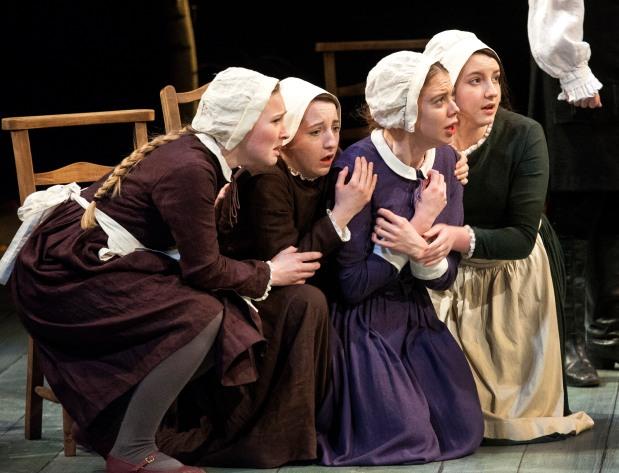 The Crucible Production Image 9 ÔÇô L-R Christina Gordon, Kirsty MacLaren, Meghan Tyler, Emma Gribbon.jpg
