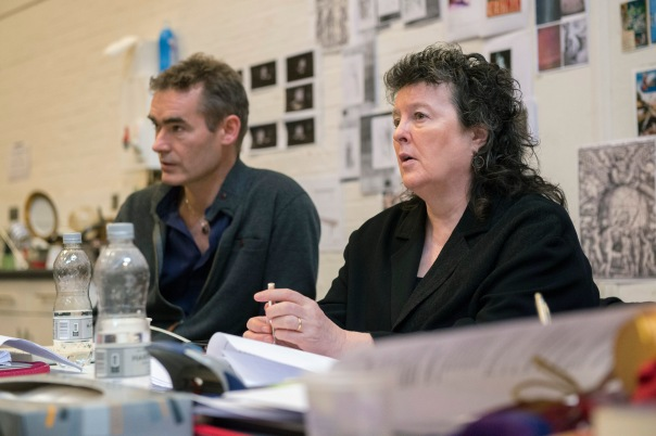Rufus Norris, Carol Ann Duffy in rehearsals for Everyman.  Credit Richard Hubert Smith.jpg