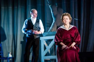Robin Laing as Jack and Esme Bayley as Bella in Perth Theatre's Gaslight credit Mihaela Bodlovic.jpeg