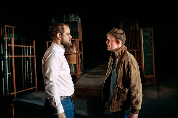 Matthew Barker as Man and Danny Hughes as Billy in Perth Theatre's Kes.jpg
