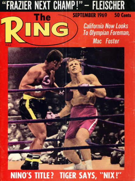 Ring Magazine Cover - Joe Frazier and Jerry Quarry